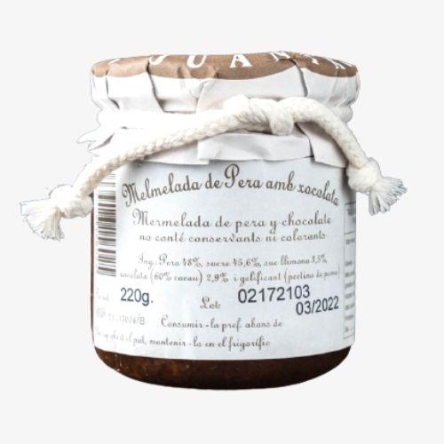 MERMELADA DE pera y chocolate delicatessen juantxo productos valle de aran aranmap